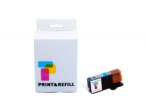 Print & Refill CLI-521C syaani täytetty mustekasetti