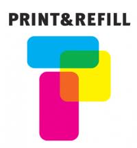 Print & Refill CLI-571GY harmaa täytetty mustekasetti