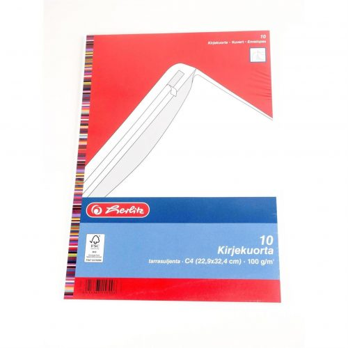 Kirjekuori C4 10 kpl:n pakkauksessa.