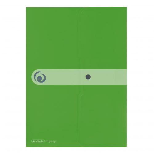 Asiakirjatasku A4 Easy Organizer vihreä nepparilla