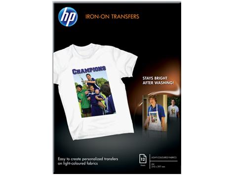 HP silitettävä siirtokuva-arkki A4