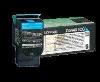 Lexmark C544/X544 syaani extrariittoisa palautusvärikasetti