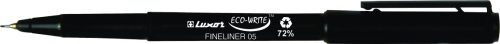 Kuitukärkikynä Luxor Eco-Write 0.5 mm musta