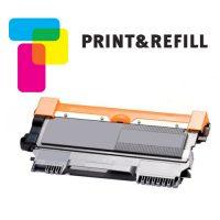 Print & Refill Brother TN-2010 / TN-2220 uusioitu laserkasetti musta