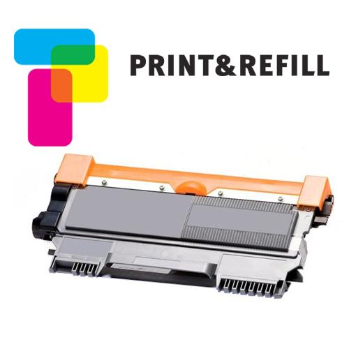 Print & Refill Brother TN-2320 uusioitu laserkasetti musta