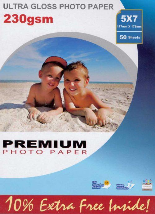 Premium kiiltävä valokuvapaperi 13x18 230g (50)