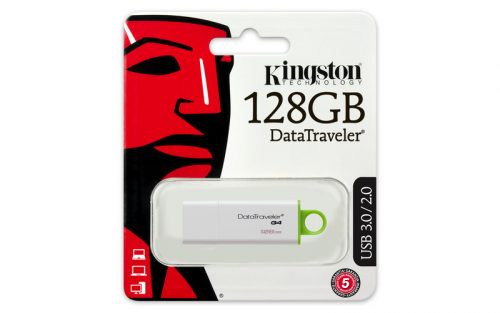 Kingston 128 GB DataTraveler G4 USB 3.0 muistitikku