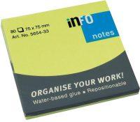 Viestilappu Info Notes 75 x 75 mm vihreä 80kpl