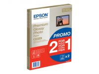 2 x Epson Premium Glossy Photo Paper A4 255g