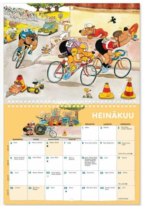 Seinäkalenteri 2022 Mauri Kunnas sivuaukema