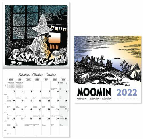 Seinäkalenteri 2022 Muumi ja sivuaukeama