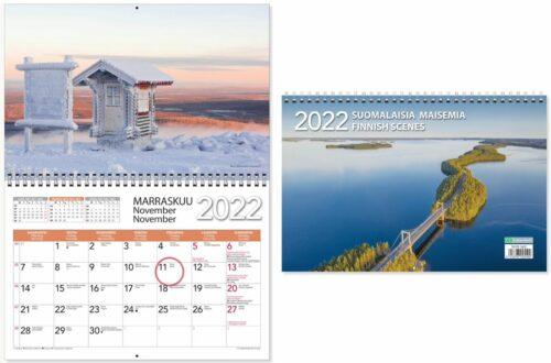 Seinäkalenteri 2022 Suomalaisia maisemia ja sivuaukeama