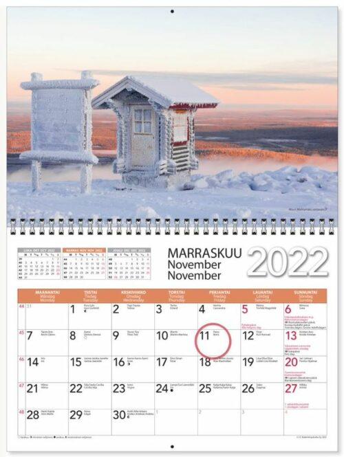 Seinäkalenteri 2022 Suomalaisia maisemia sivuaukeama