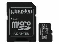 KINGSTON 32GB micSDHC Canvas Select Plus 100R A1 kortti ja adapteri