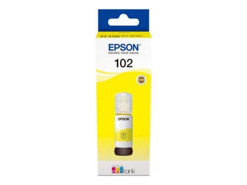 Epson 102 EcoTank mustepullo keltainen