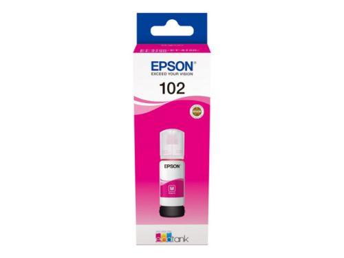 Epson 102 EcoTank mustepullo magenta