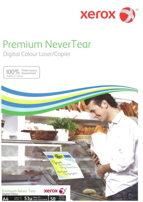 Xerox Never Tear Crystal Clear tarra-arkki A4