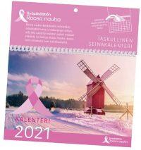 Roosa nauha kalenterimappi 2021