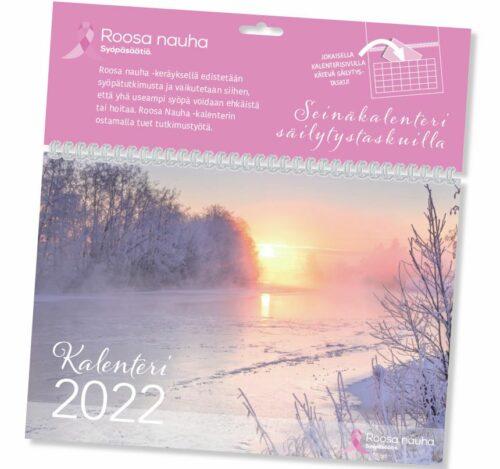 Kalenterimappi säilytystaskulla 2022 Roosa-nauha