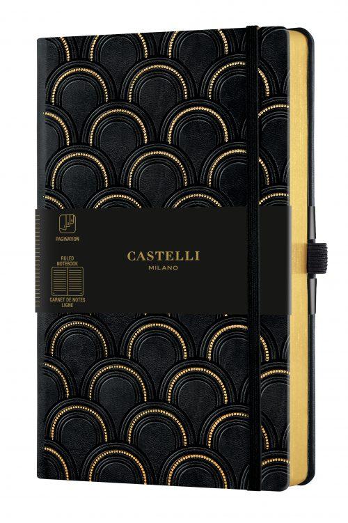 MUISTIKIRJA Castelli Art Deco Gold 13 x 21 cm